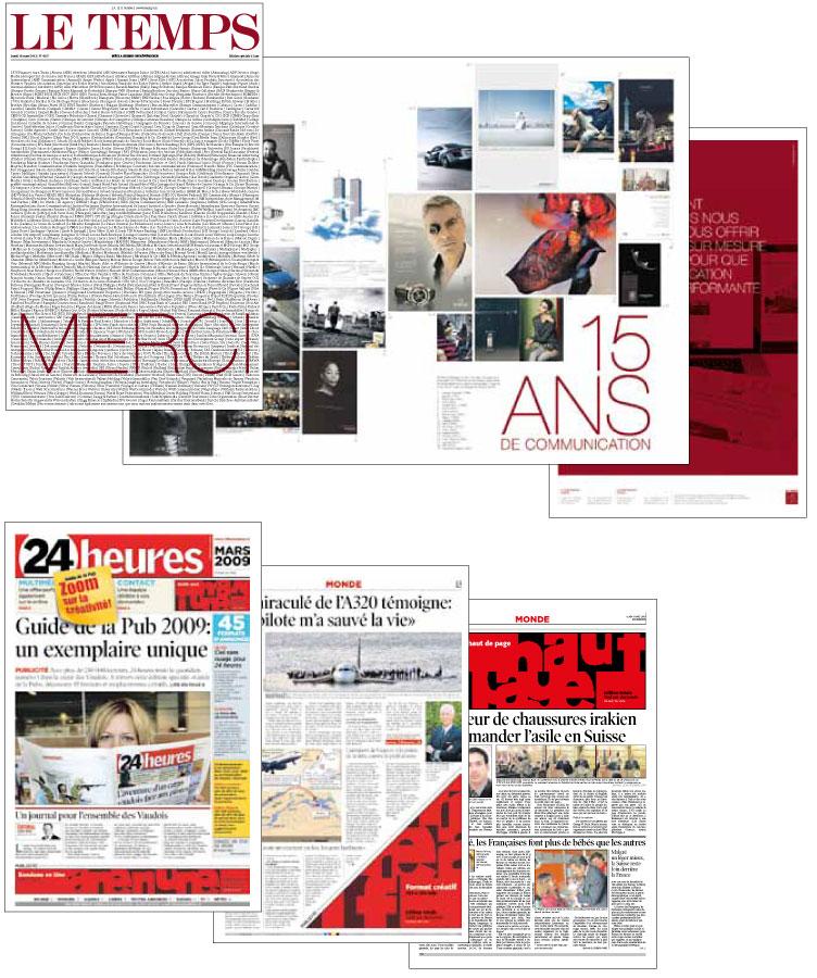 Faux journaux Le Temps et 24 heures