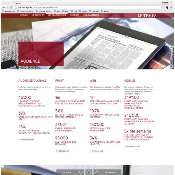 Site Le Temps pub